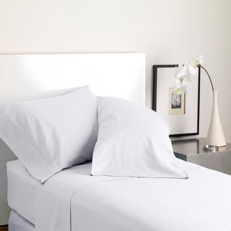 Modern Living Solid Color T300 Standard White Pillowcase Pair
