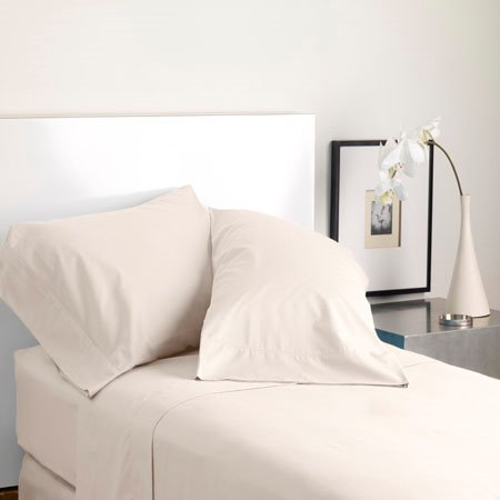 Modern Living Solid Color T300 King Cream Pillowcase Pair