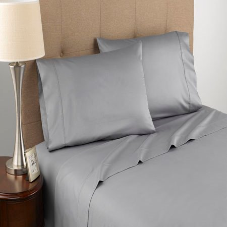 Modern Living T300 Certified Organic Cotton Twin Grey Sheet Set