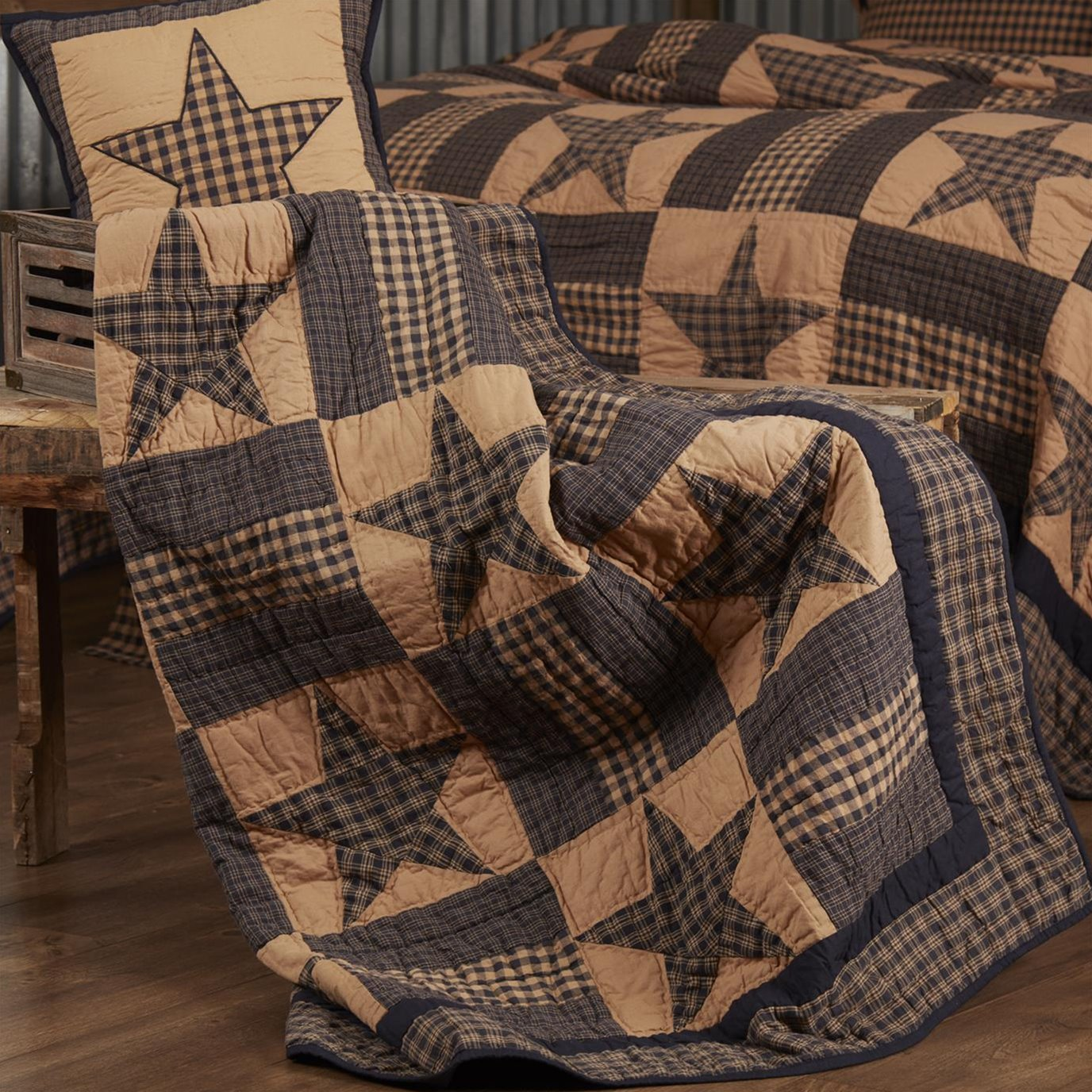Teton Star Quilted Throw 60x50