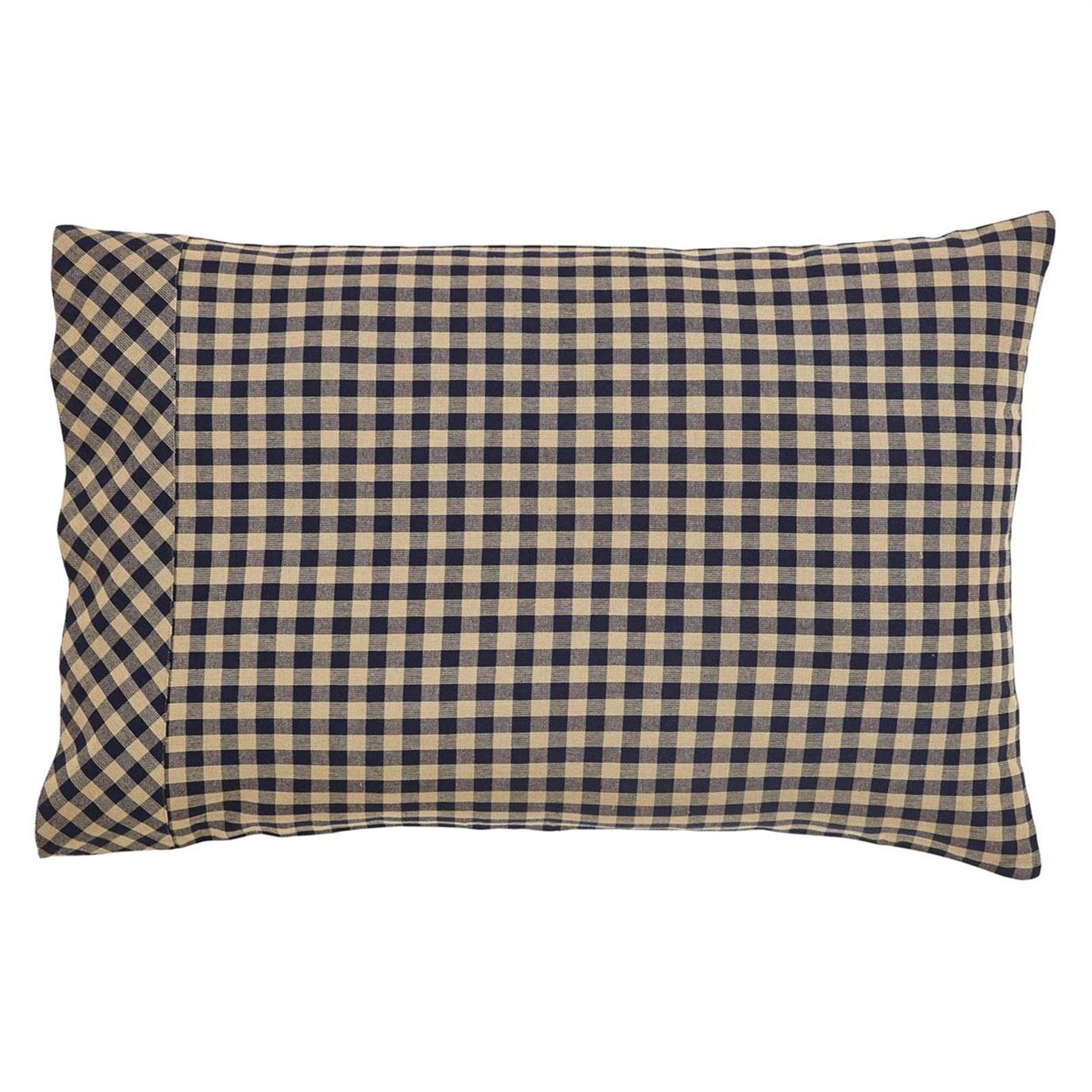Navy Check Pillow Case Set of 2