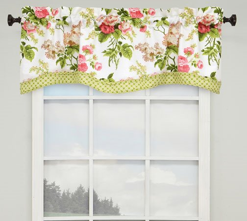 Emma's Garden Lined Window Valance