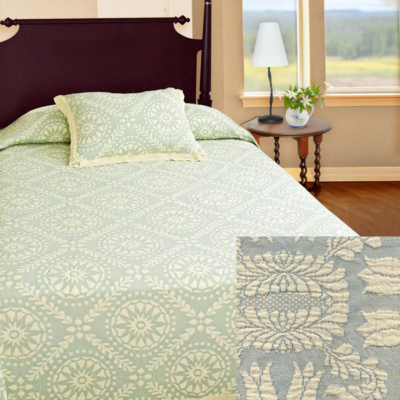 Americana Twin French Blue Bedspread