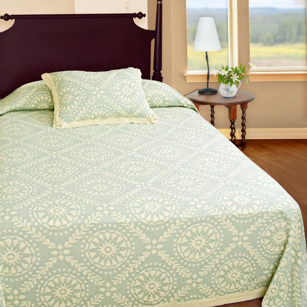 Americana King Sage Bedspread