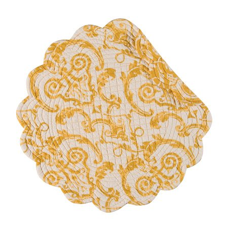 Florence Round Quilted Placemat