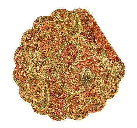 Tangiers Round Quilted Placemat