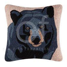 Hillside Haven Hooked Bear Face Pillow