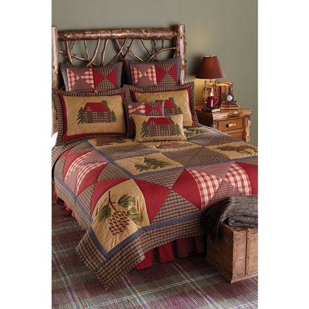 Cabin 3 piece King Quilt Set