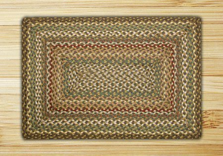 "Fir Tonal Rectangle Braided Rug 20""x30"""