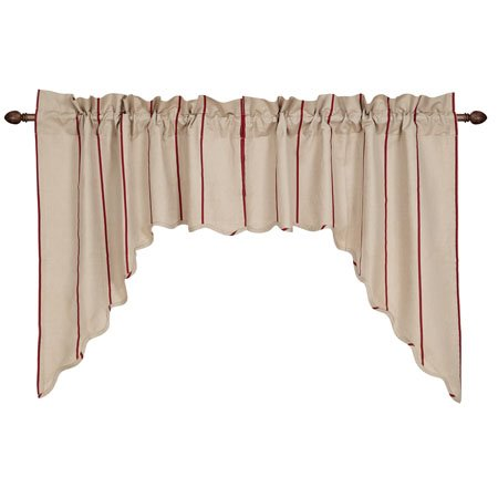 Charlotte Rouge Scalloped Swag Set of 2 36 x 36 x 16