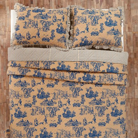 Elaine Azure Toile Twin Quilt