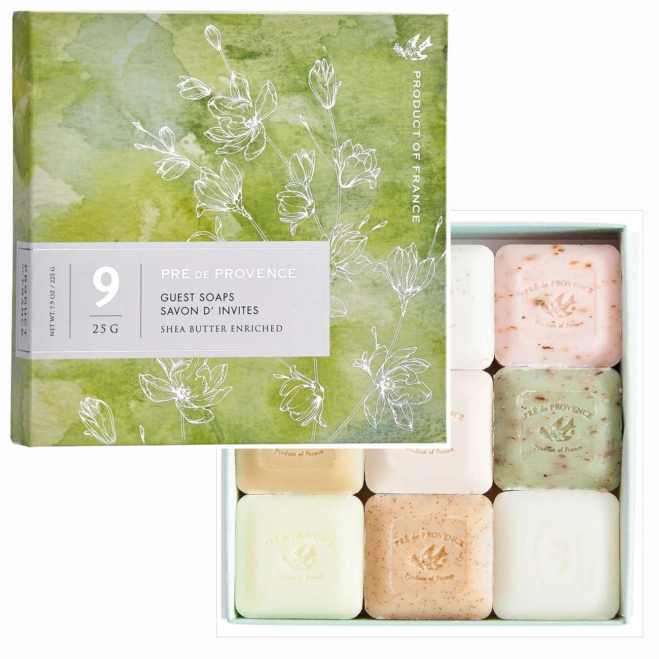 Pre de Provence Guest Soaps Set of 9 (Classic scents, green box)