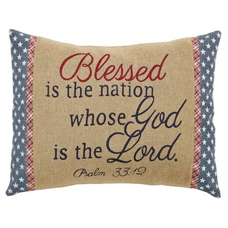 Independence Blessed Pillow