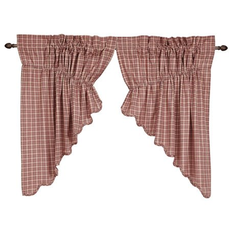 Independence Scalloped Prairie Swag Set of 2 36 x 36 x 18