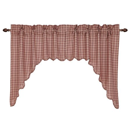 Independence Scalloped Swag Set of 2 36 x 36 x 16