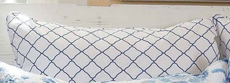 Sasha Blue Lattice Euro Sham