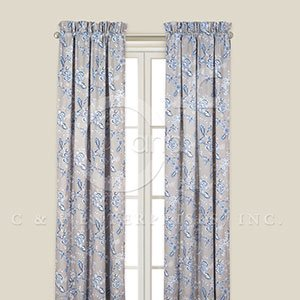 Annabelle Blue Drapery Panel