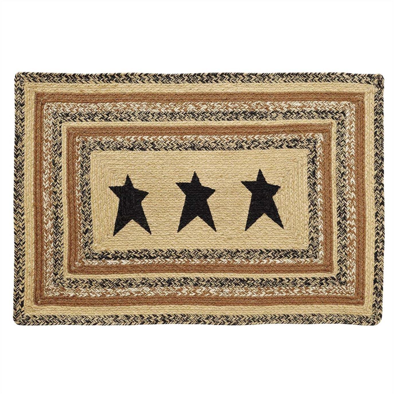 Kettle Grove Jute Rug Rect Stencil Star 24x36