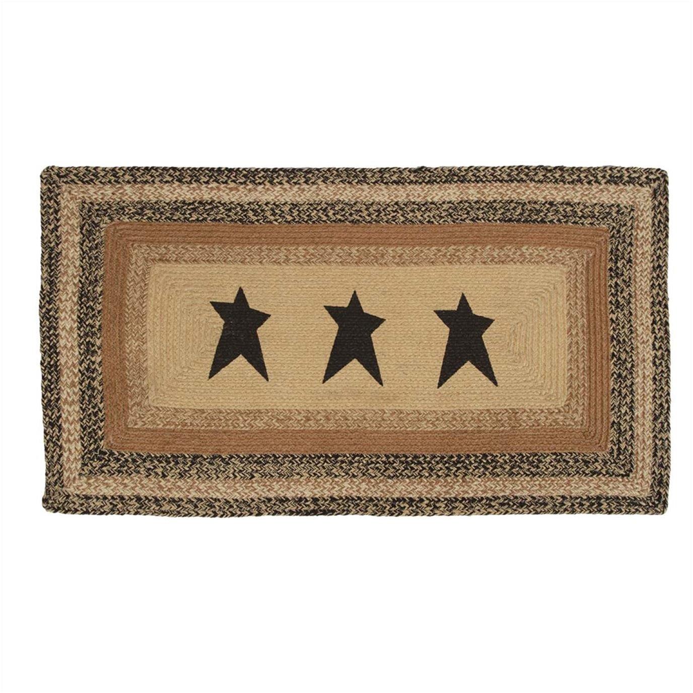 Kettle Grove Jute Rug Rectangular  Stencil Star 27x48