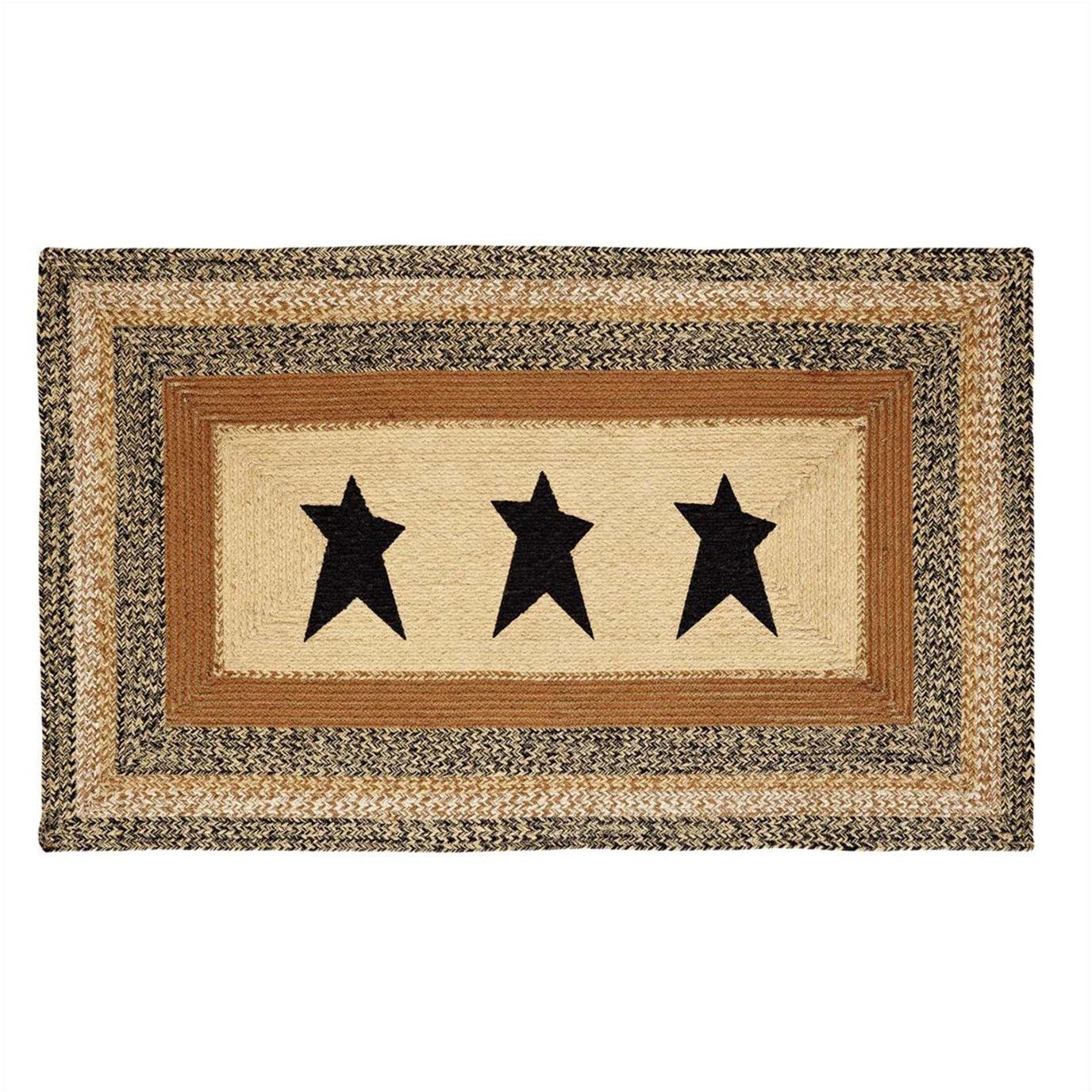 Kettle Grove Jute Rug Rectangular  Stencil Star 36x60