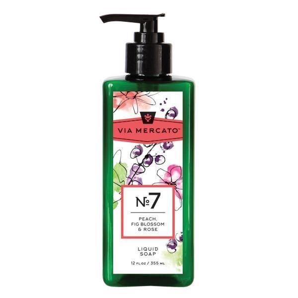 Via Mercanto No. 7 Peach, Fig Blossom & Rose Liquid Soap