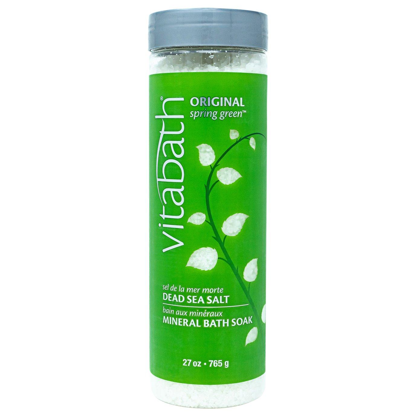Vitabath Original Spring Green Dead Sea Salt Mineral Bath Soak