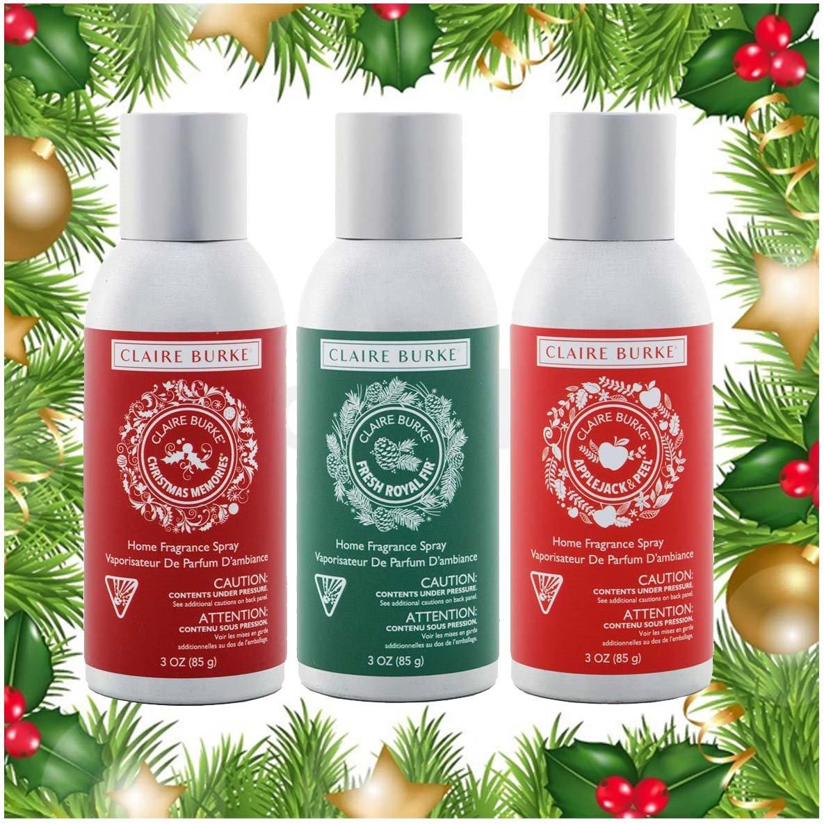 Claire Burke Room Spray Seasonal Scents Trio (3 3oz cans)