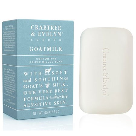 Crabtree & Evelyn Goatmilk Triple-Milled Soap (3.5 oz, 100 g)