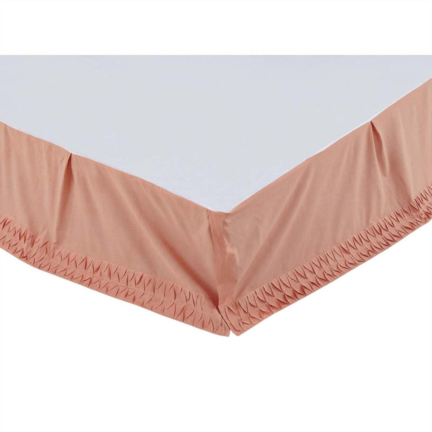 Adelia Apricot Twin Bed Skirt 39x76x16