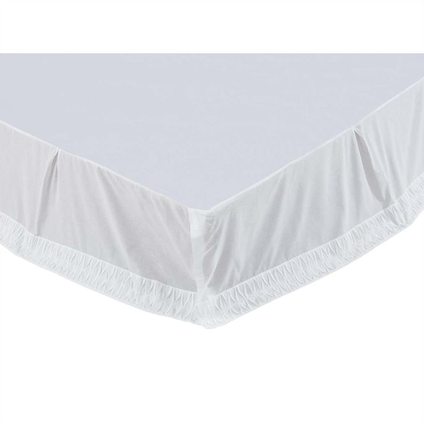 Adelia White Twin Bed Skirt 39x76x16