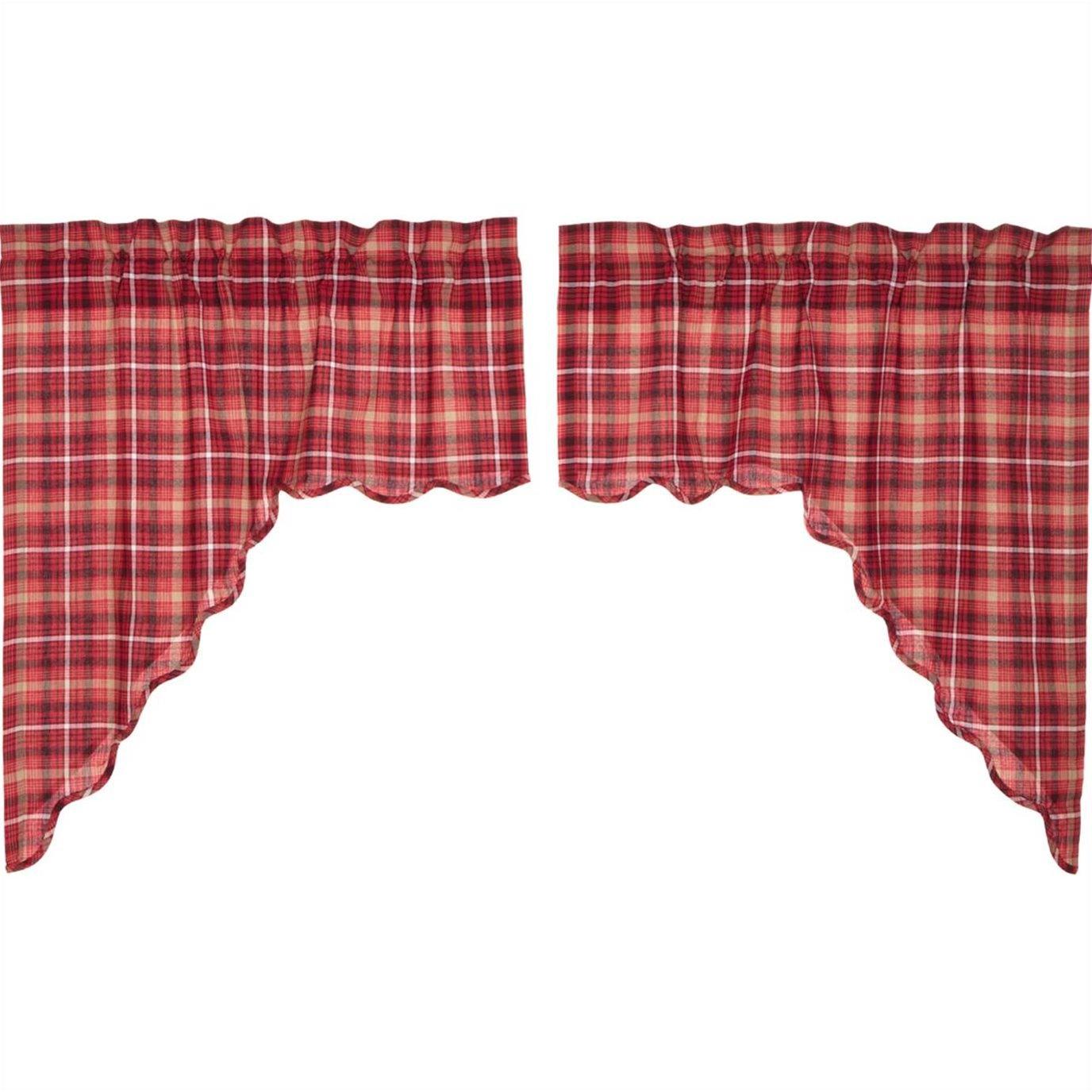 Braxton Scalloped Swag Set of 2 36x36x16