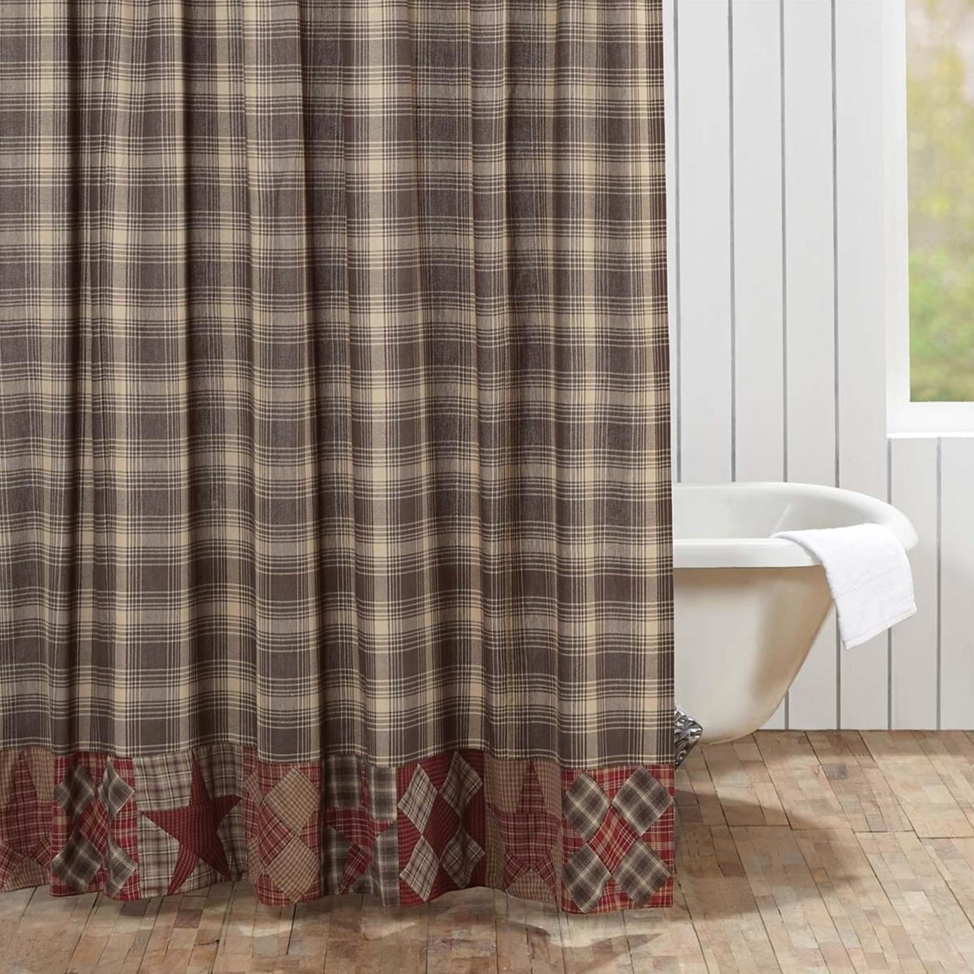 Dawson Star Patchwork Shower Curtain 72x72