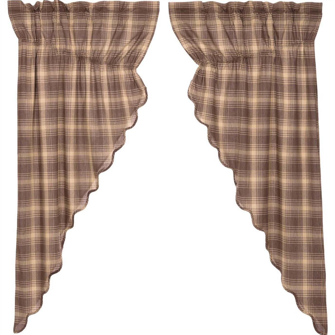 Dawson Star Scalloped Prairie Short Panel Set of 2 63x36x18
