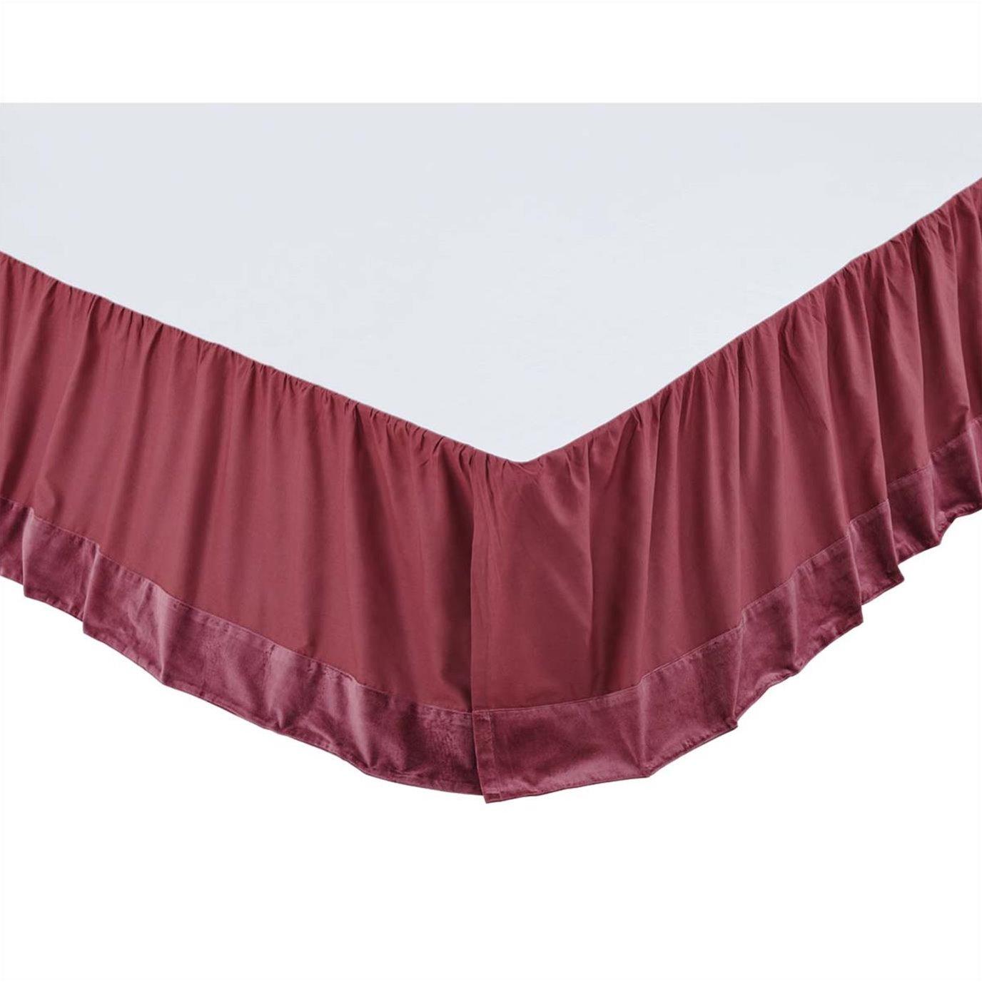 Eleanor Mauve King Bed Skirt 78x80x16