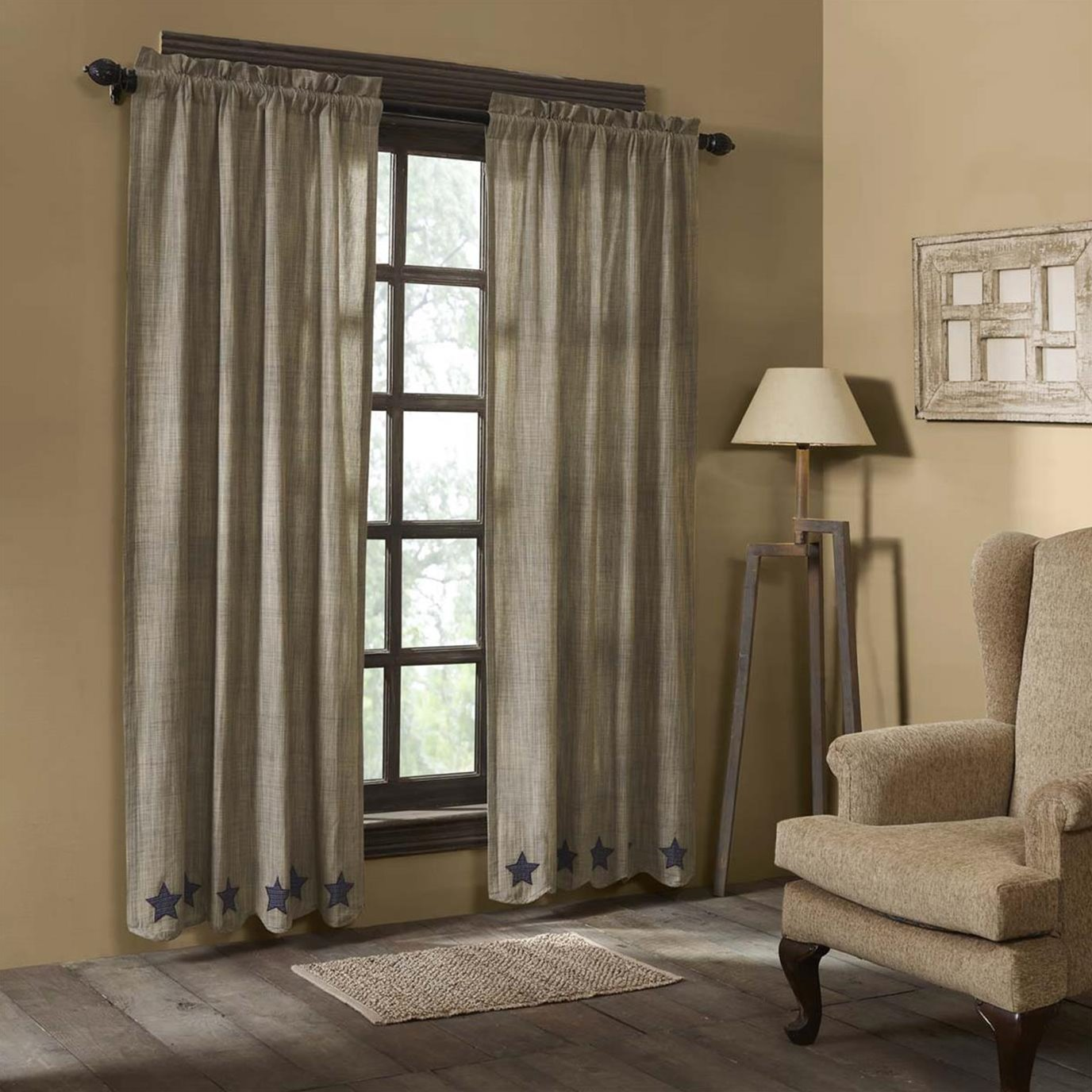 Vincent Scalloped Panel Set of 2 84x40