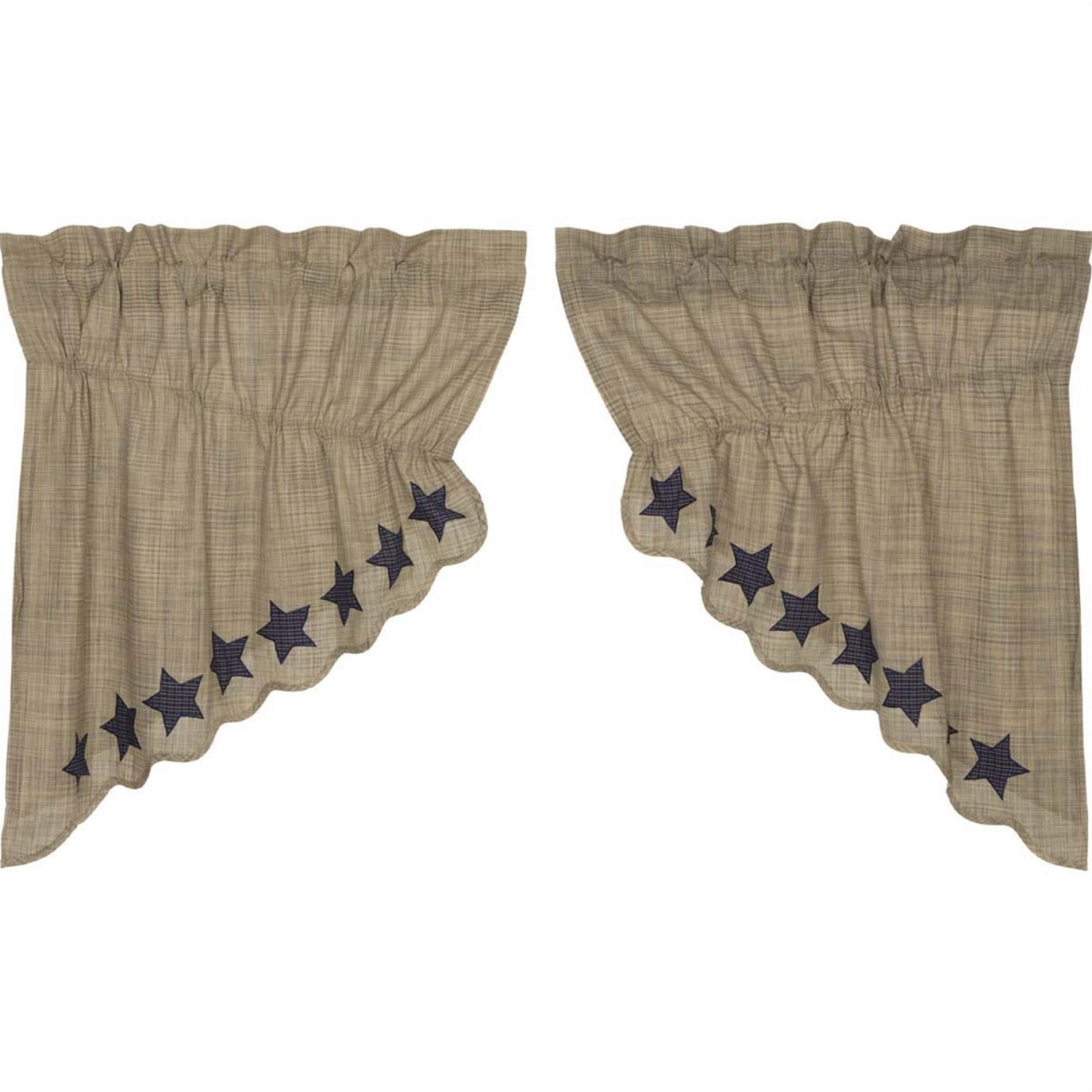 Vincent Scalloped Prairie Swag Set of 2 36x36x18
