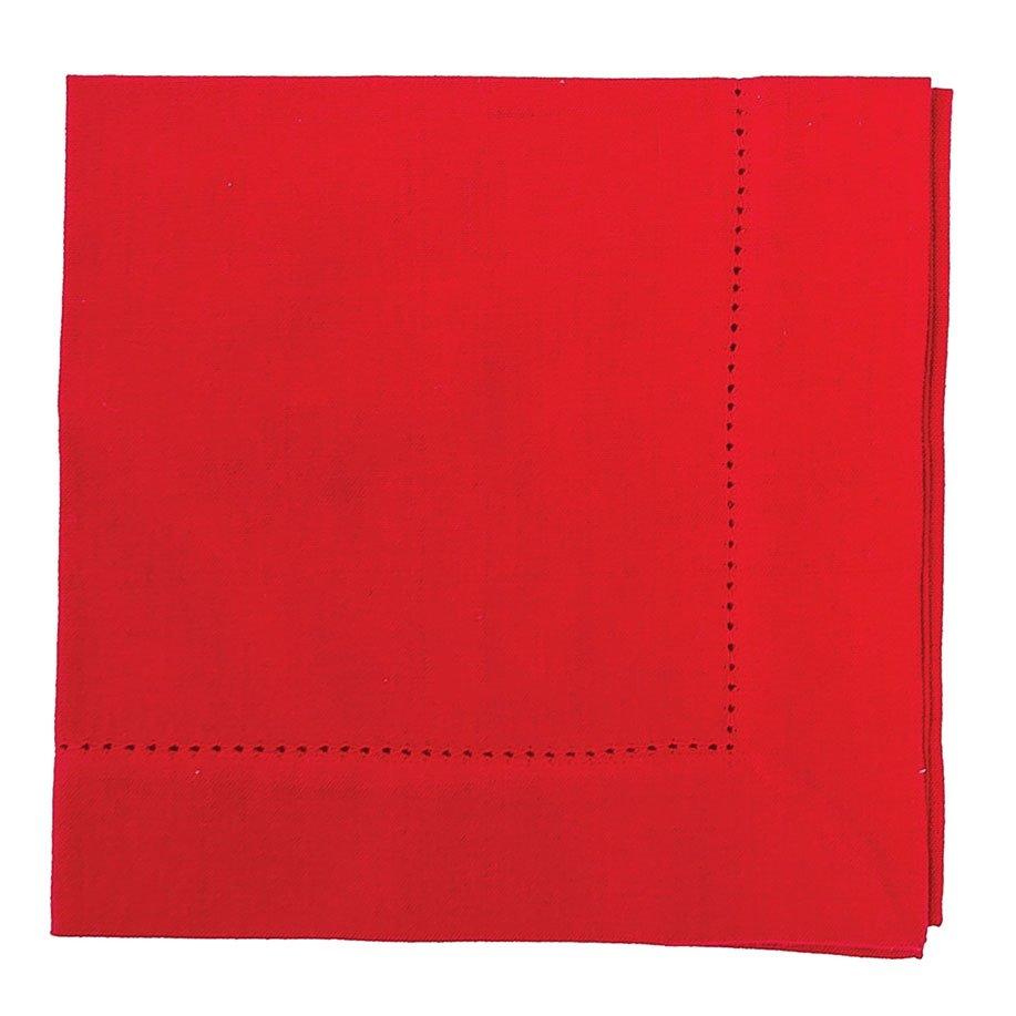Crimson Hemstitch Napkin (woven)