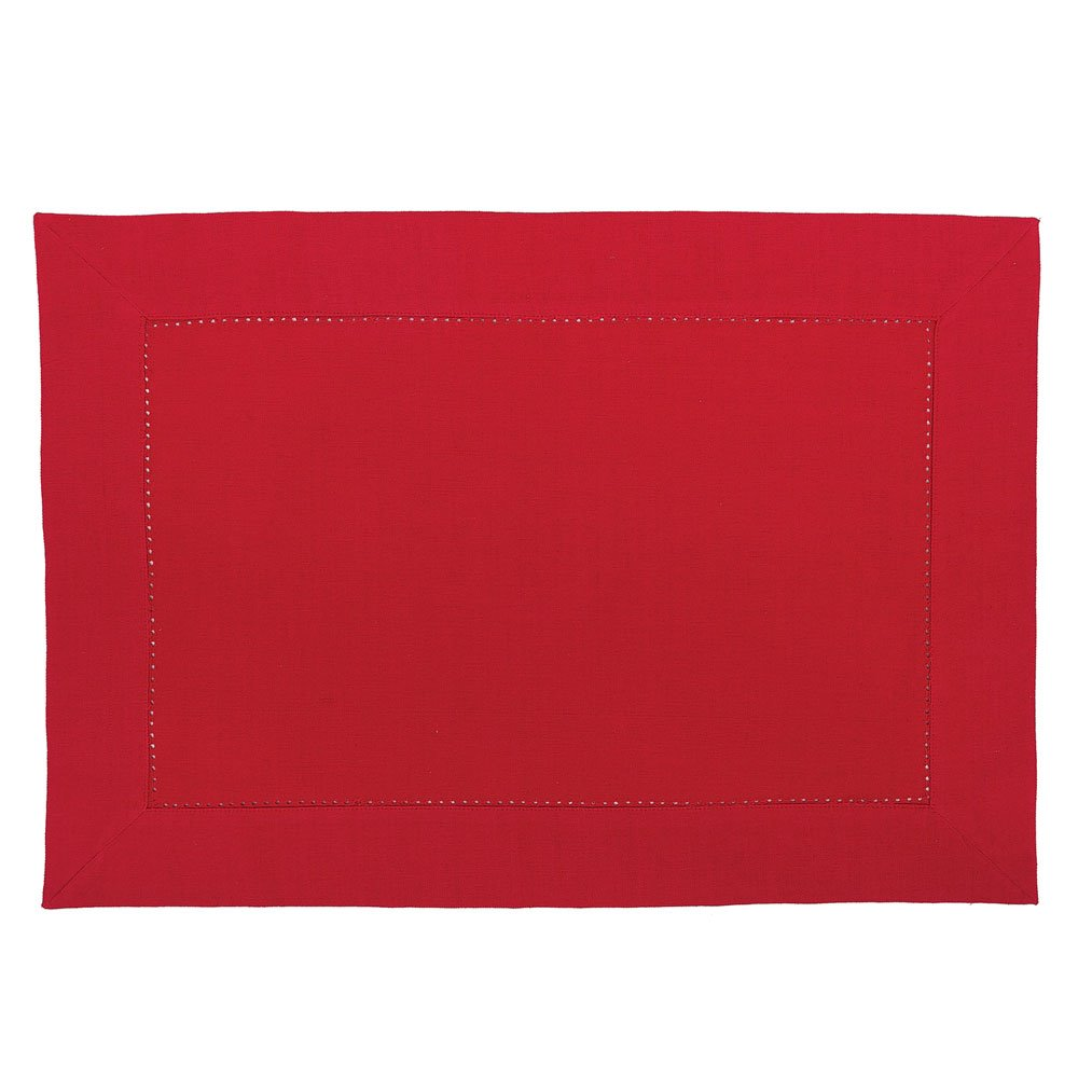 Crimson Hemstitch Placemat