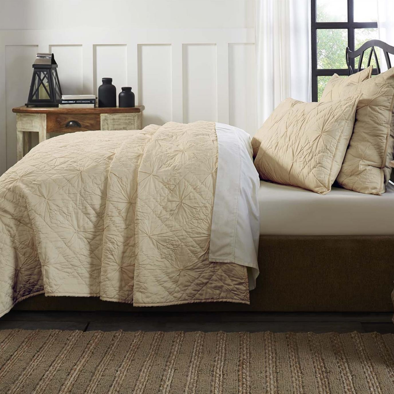 Aubree Taupe King Quilt 108Wx92L