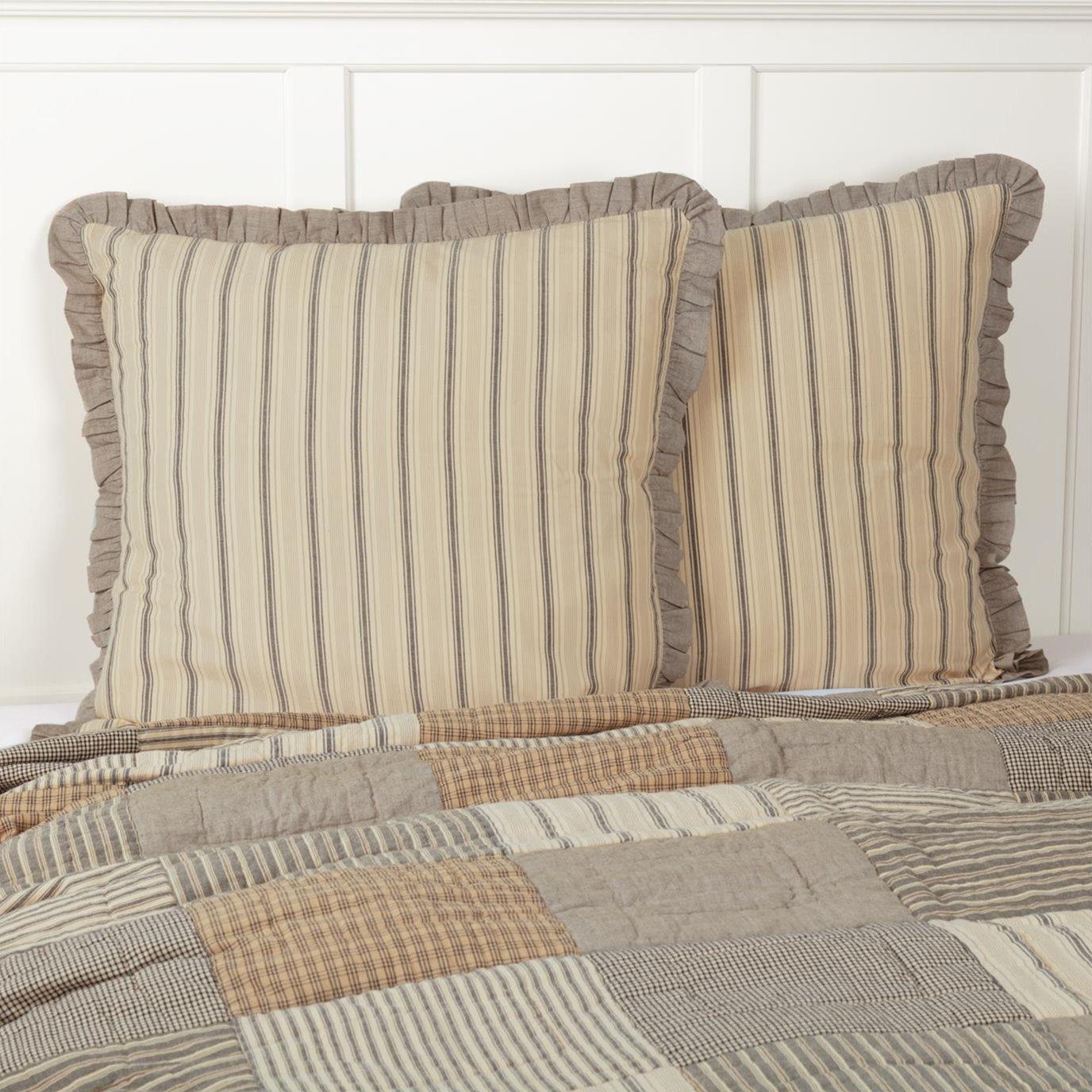 Sawyer Mill Charcoal Fabric Euro Sham 26x26