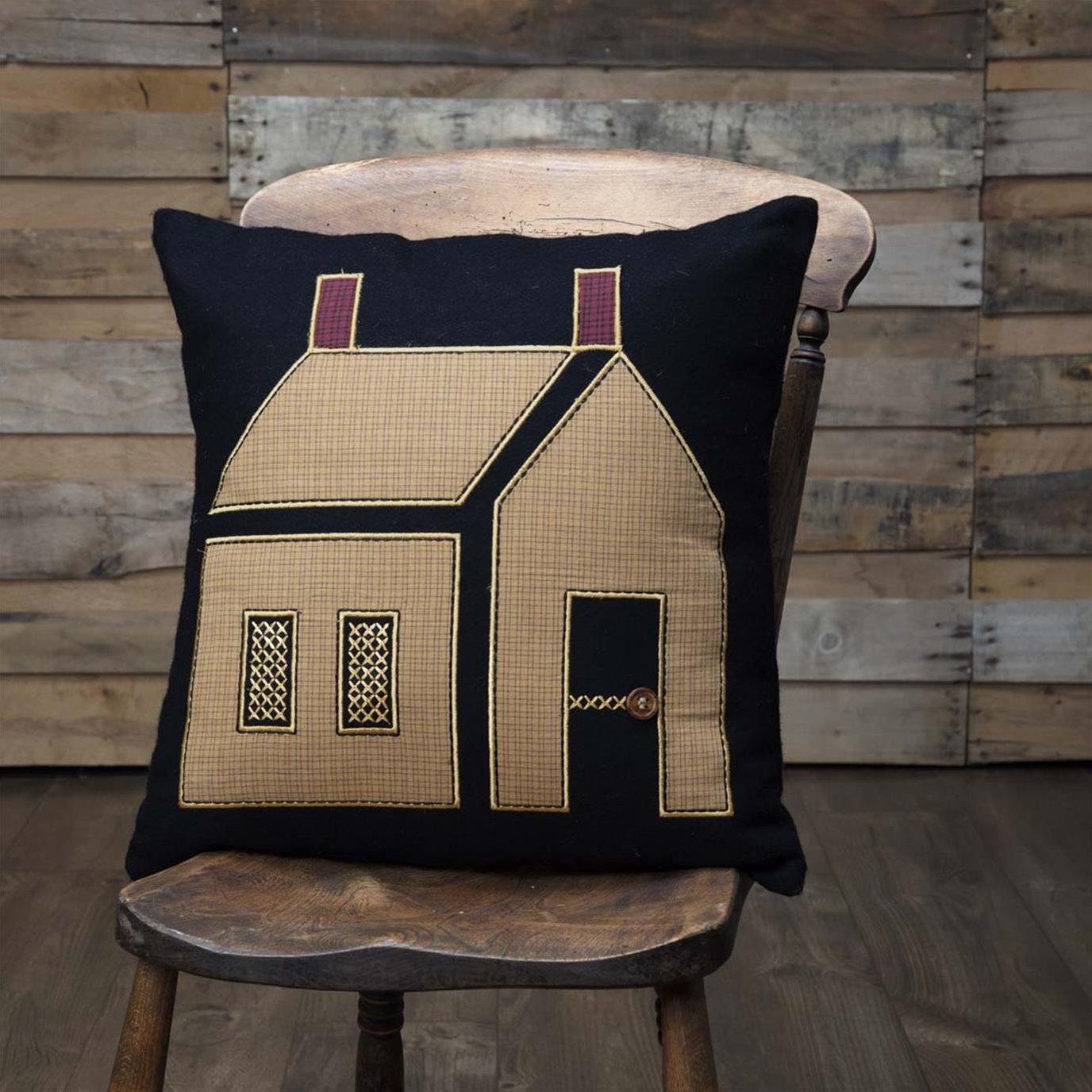 Heritage Farms Primitive House Pillow 18x18