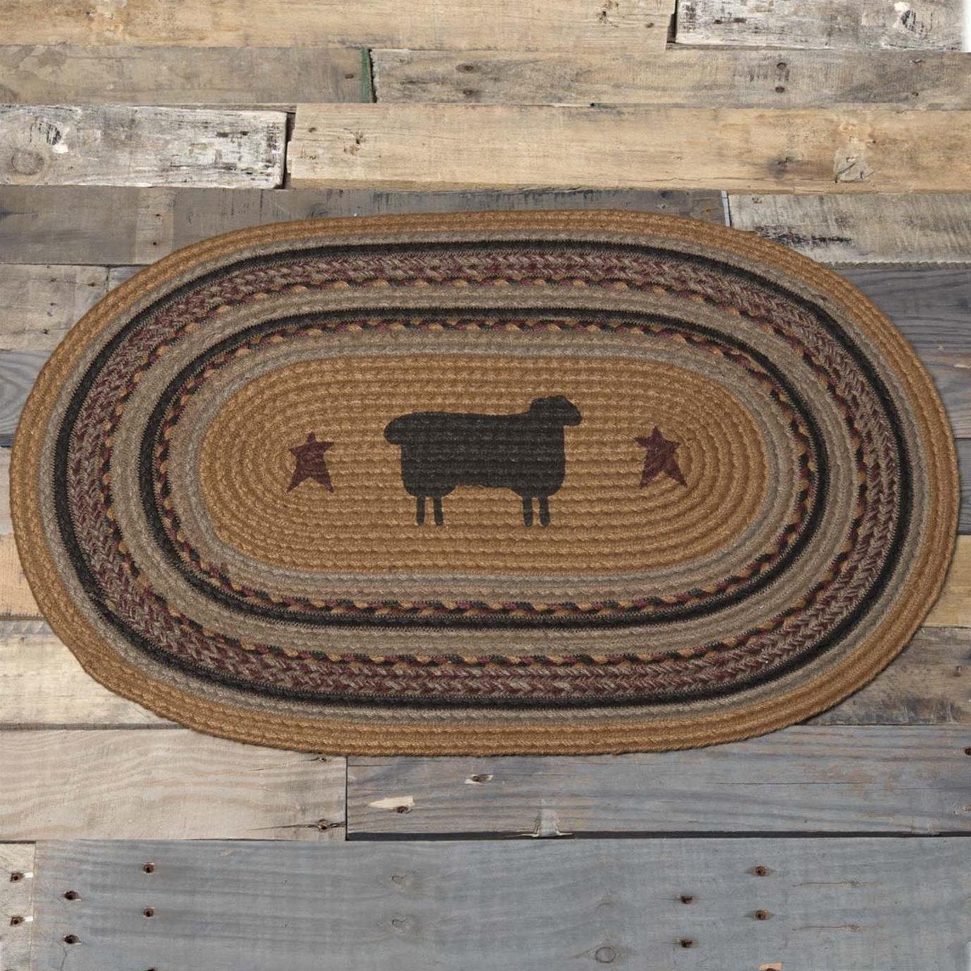 Heritage Farms Sheep Jute Rug Oval 20x30