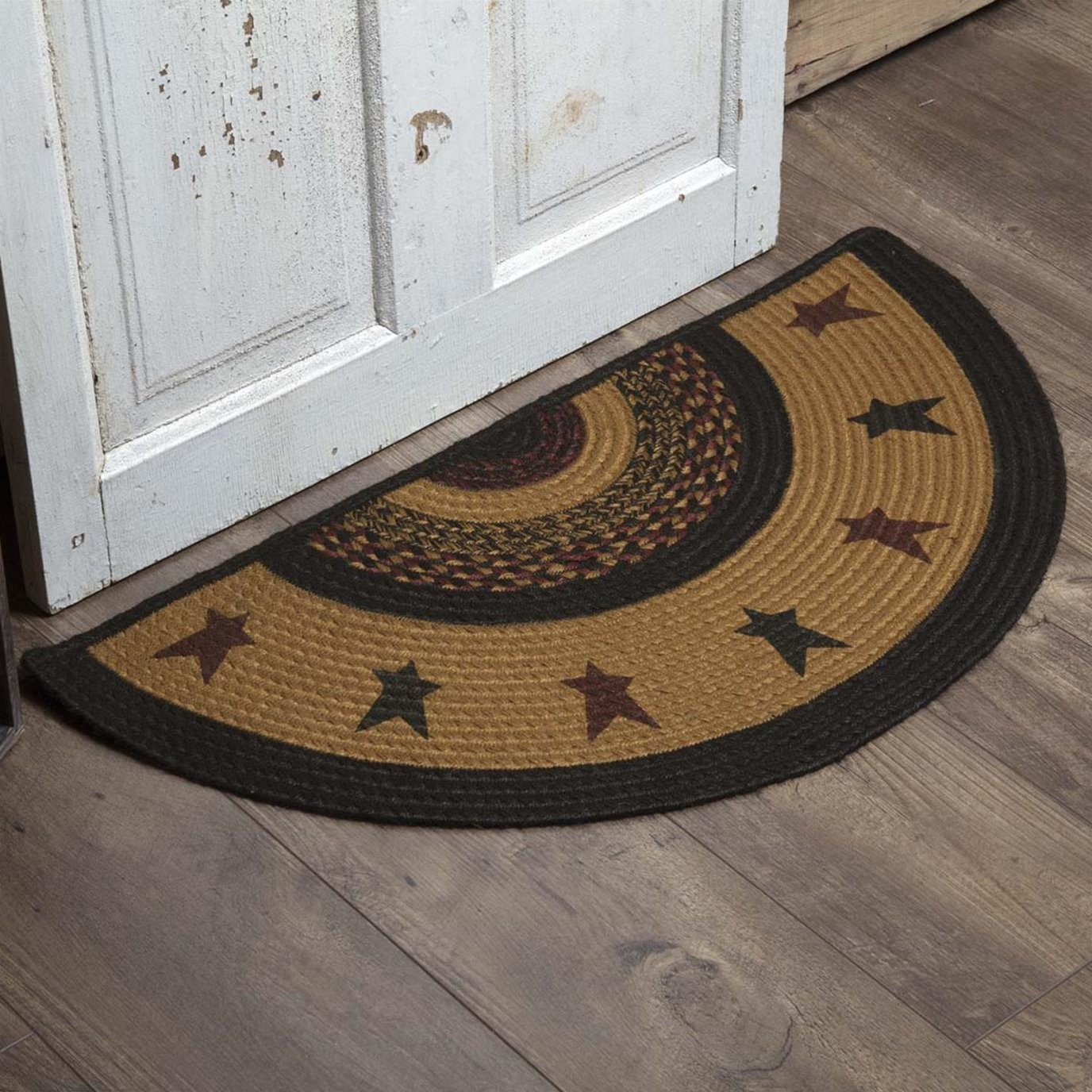 Heritage Farms Star Jute Rug Half Circle 16.5x33
