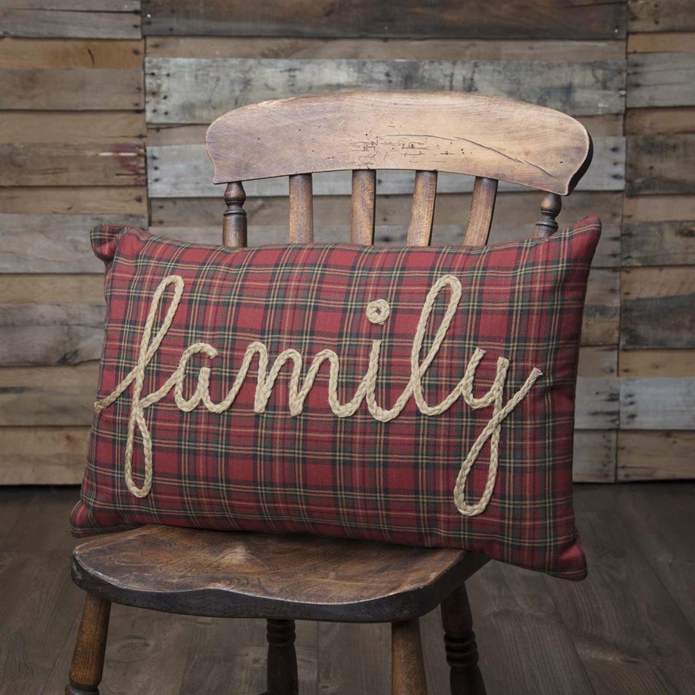 Tea Star Family Pillow 14x22