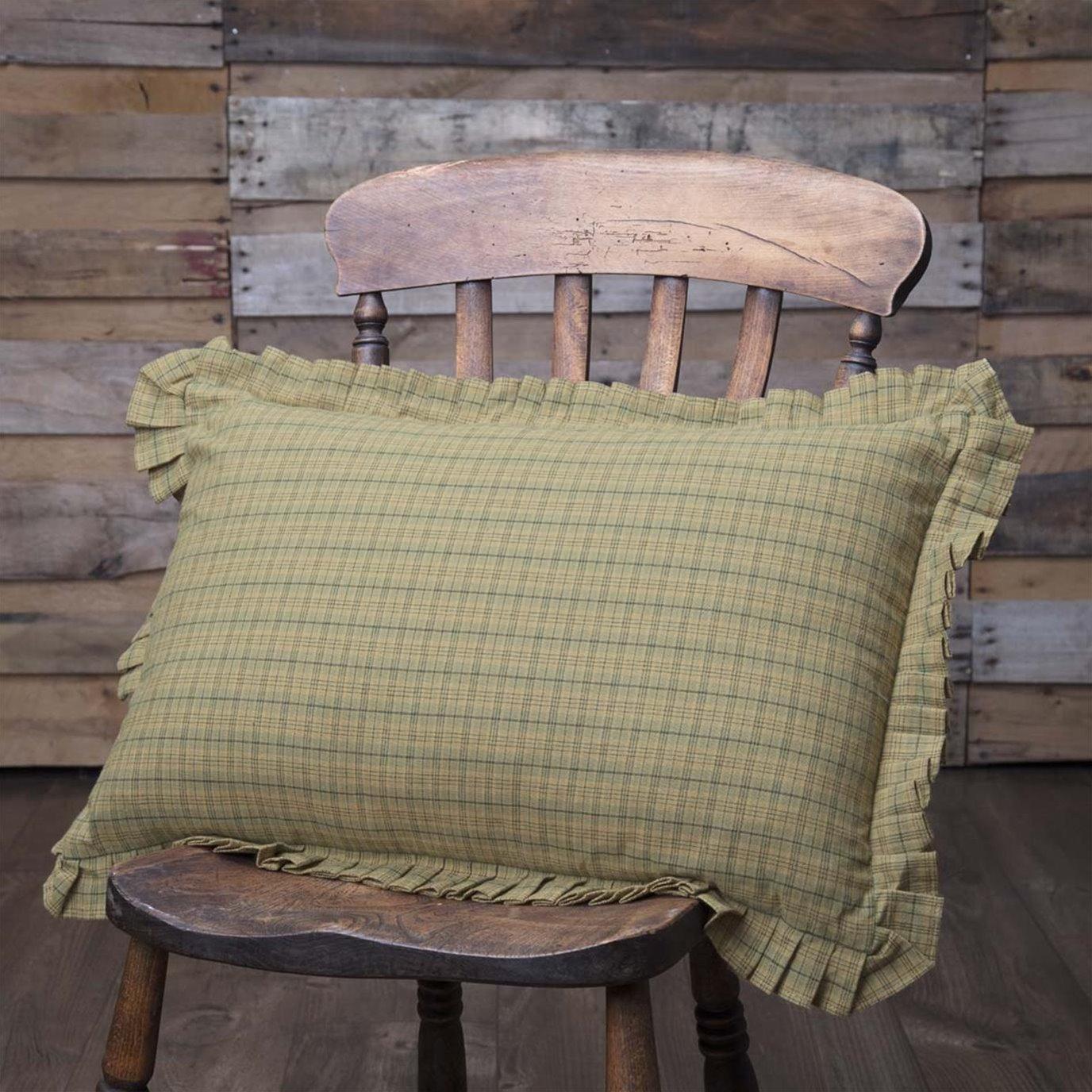Tea Star Plaid Pillow 14x22