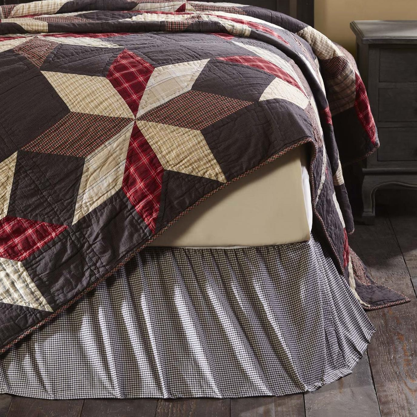 Liberty Stars King Bed Skirt 78x80x16