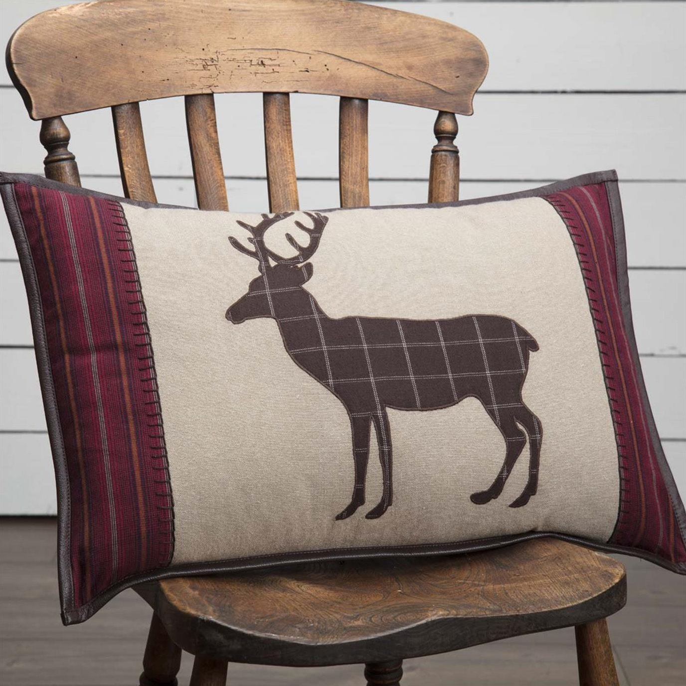Wyatt Deer Applique Pillow 14x22