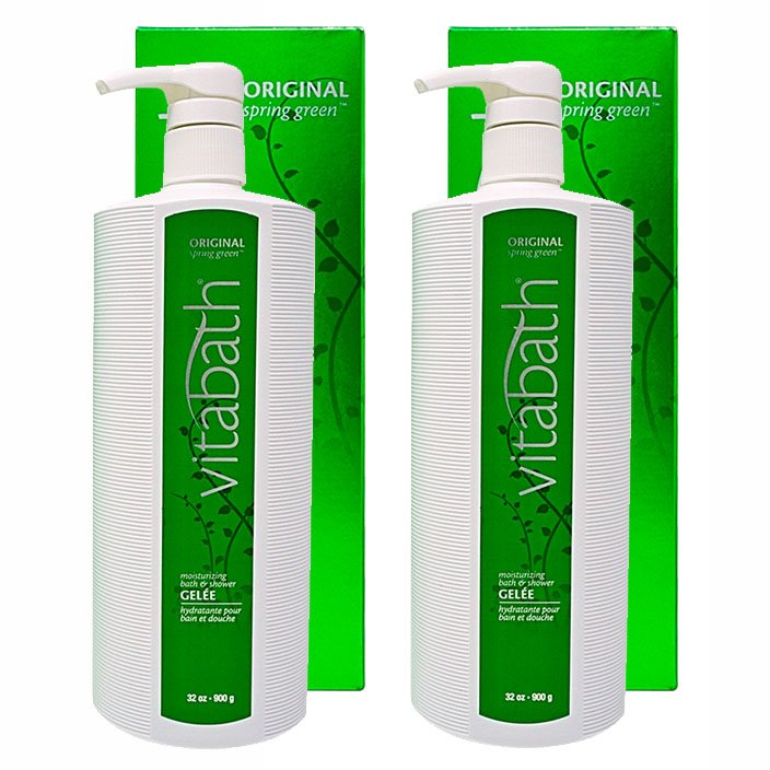 Vitabath Original Spring Green Moisturizing Bath & Shower Gelee 2 Pack (2 x 32 oz)