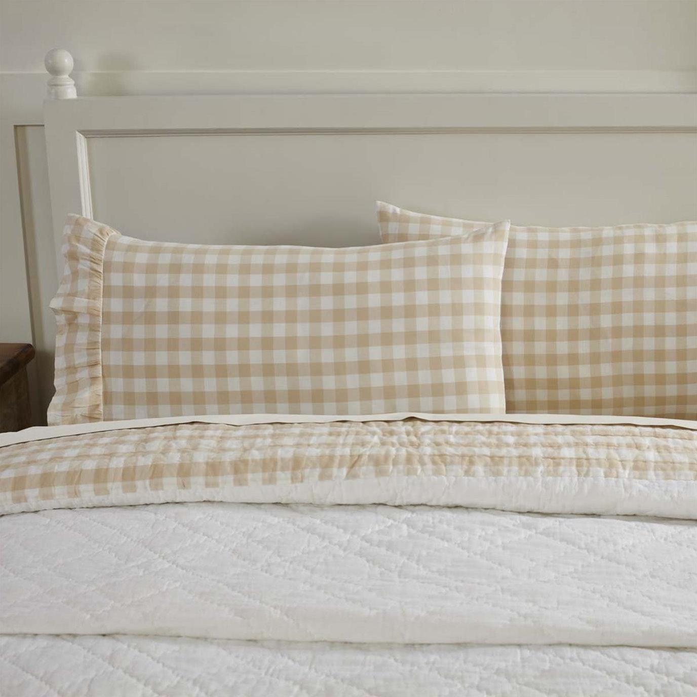 Annie Buffalo Tan Check Standard Pillow Case Set of 2 21x30