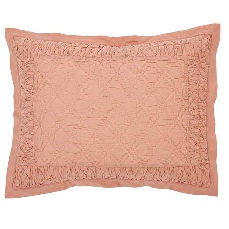 adelia apricot standard size sham by vhc brands pc. Black Bedroom Furniture Sets. Home Design Ideas